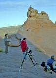 Photographers Shooting at Sundown