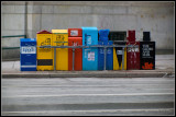 News paper boxes