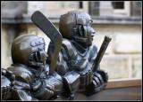 Statues outside Hockey Hall of Fame