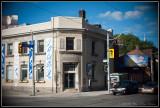 Old Bank of Nova Scotia building at the corner of Queen & River