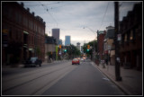 Looking at Downtown Toronto from Queen & River