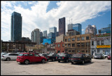 Parking Lot with Downtown buildings in background