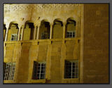 Y.M.C.A. building Jerusalem, at night (detail).