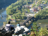 Looking down on Harpers Ferry
