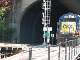 6142 exits the tunnel