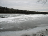 Ice covered river