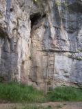 Cave and ladder