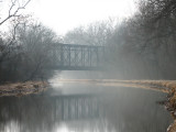 The Capitol cresent trail crosses the canal over old railroad bridge