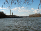 Choppy waters where the Monocacy and Potomac meet on a cold windy morning