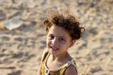Girl among ruins of former settlement - Gaza