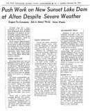 New Sunset Lake Dam - Manchester Sunday News 1961