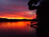 Crystal Lake Sunset by David Argue