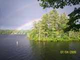 Lower Suncook Rainbow by Cathy White - makes a great screensaver/desktop wallpaper
