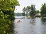 Paddleboating toward Lower Suncook