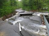Alton Shores Road Wiped Out by Frohock Brook - May 14, 2006 - contributed photo