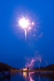 Fireworks on Lake Montclair