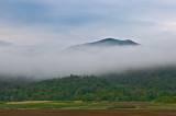Fog Covered VT Mountain