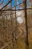 Mid-Winter Railroard Tracks at Bull Run Mountain, VA