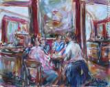 Pomeriggio al Caffé Greco, by Stellario Baccellieri, 2008