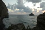 La spiaggia di Pollara dall'antico sentiero