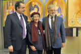 Mostra Album di Famiglia di Lorenza Mazzetti a Firenze. Presidente Andrea Barducci, Lorenza Mazzetti, Prof. Ivano Tognarin