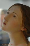 Antica scultura lignea volto femminile3