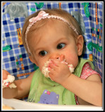 Lilly's First Birthday, I'm One and Starved! More Cake, Please!