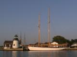 Mystic Seaport Light and Schooner Brilliant