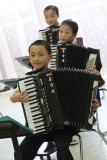 Accordion class. Mangyongdae Childrens Palace. Pyongyang. NORTH KOREA