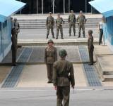 The border between North and south Korea. Panmunjom. NORTH KOREA