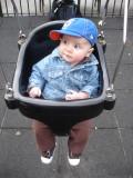 Quinn rocks the swings in Prospect Park