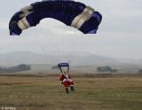 Santa Parachutes into Byron   3