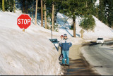 Stop in snow