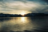 Sunsen on lake Tahoe