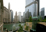 Trump and CHicago River