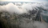Parting Clouds reveal a Shoreline