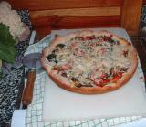 pizza de espinacas cocida