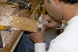 Craftsman Carving at a local Cameo Factory