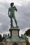 A Replica of Michelangelo's David