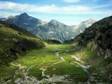 Outlook over Alpine valley
