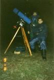 1994, Felix Jaime y yo con un refractor Jaegers 150mm F5