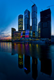Moscow at night .... sunset