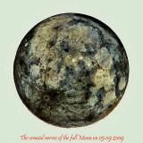 The fluorescent full Moon on 05.09.2009
