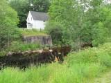 stonework of old bridge location at Round Hill