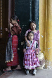 Young girls at S Andrés Xecul church