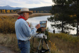 Painter at Oxbow Bend