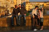 Two couples at Ponte Santa Trinita