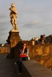 Admiring the sunset at Ponte Santa Trinita