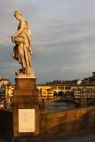 Statue of Ponte Santa Trinita and Ponte Vecchio
