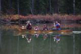 Kayak family trip in String Lake